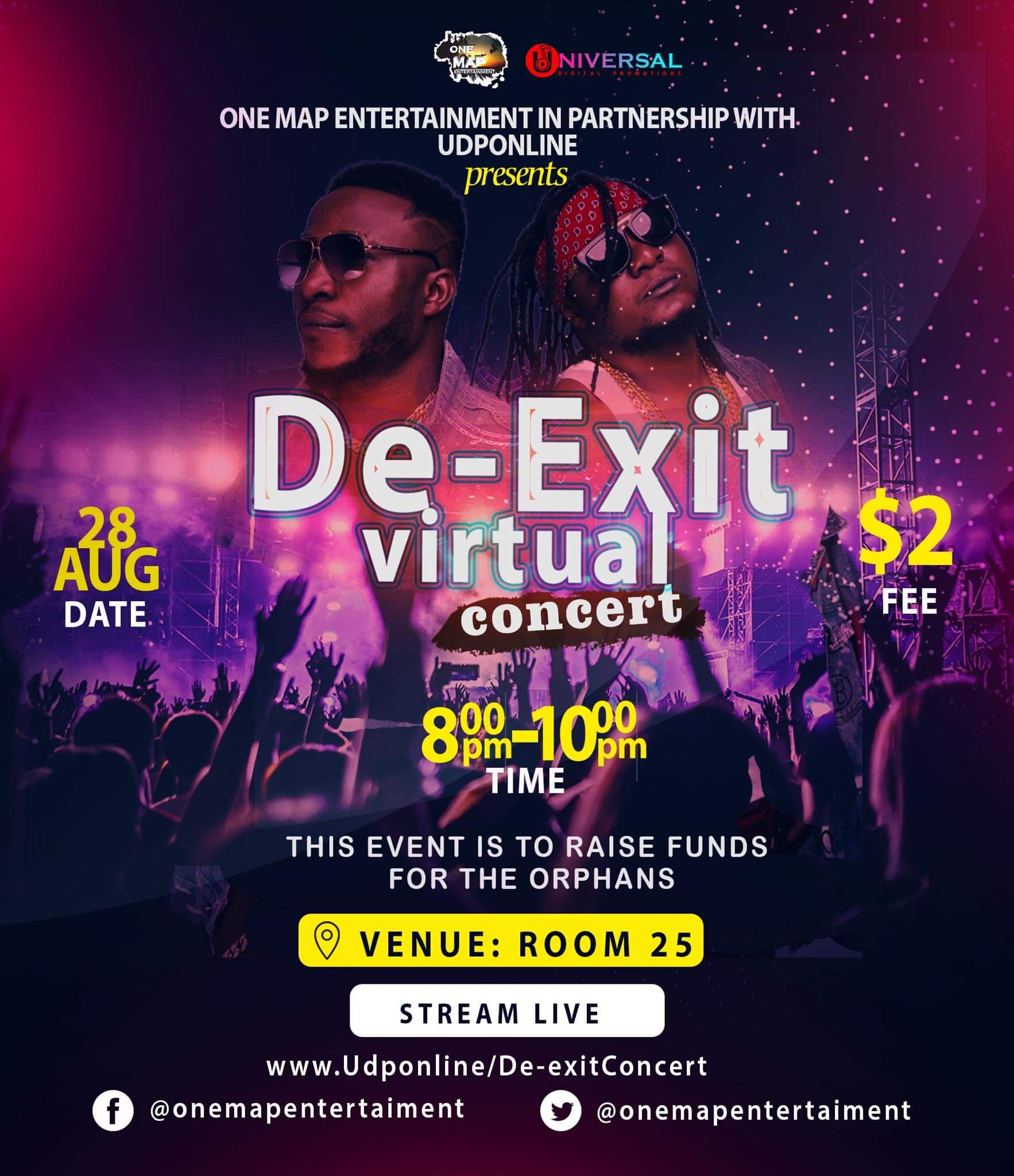 De-Exit To Stage Virtual Concert On August 28 To Support The Needy